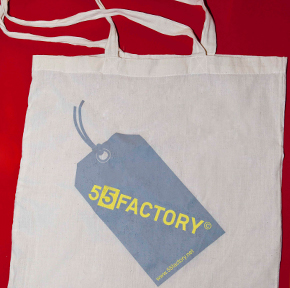fiftyfiveuploads - 55factory tote bag